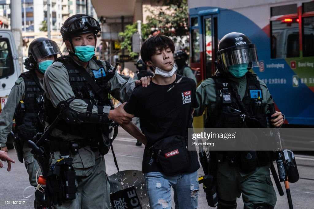 Hong Kong Protests Against New China Security Law : News Photo