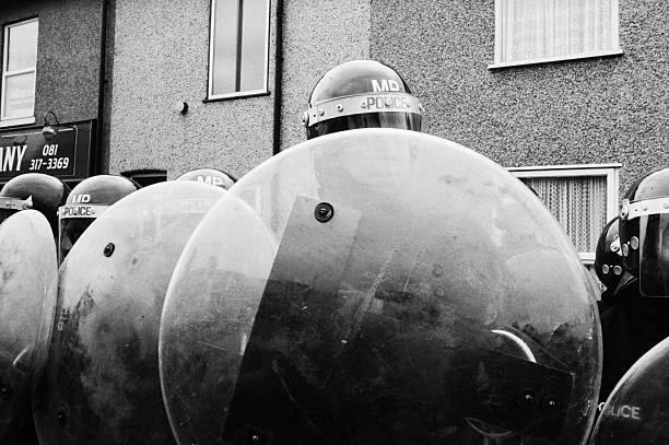Riot Police In Welling Wall Art