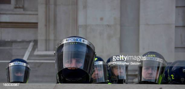 CONTENT] Riot Police guard the Treasury building London during the G20 protests London