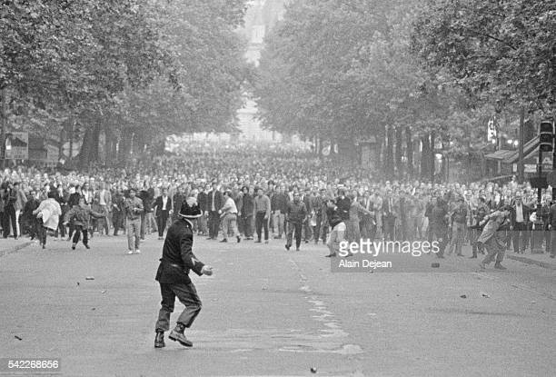 Riot police in the streets during the May 15 demonstration In May of 1968 angry students and workers took to the streets to protest against...