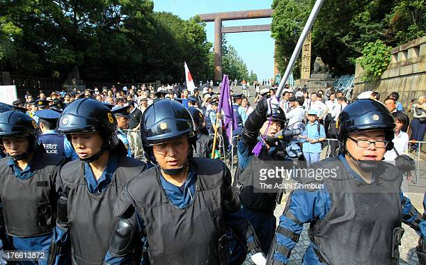Riot police on alert guard after word spread that South Korean lawmakers would visit possibly triggering a clash with rightwing protesters at...
