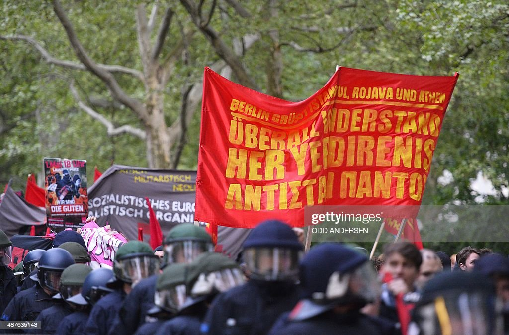 GERMANY-MAYDAY-PROTEST : News Photo