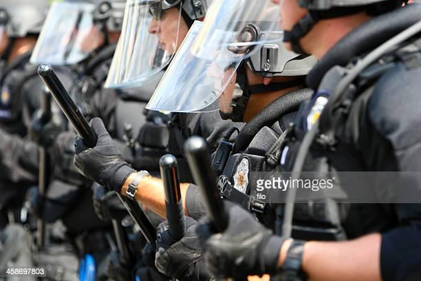 riot police - denver police stockfoto's en -beelden