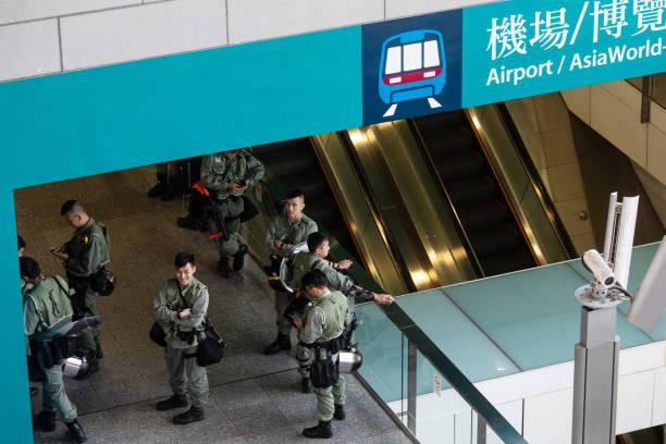 CHN: Demonstrators Attempt Disruptions To Hong Kong International Airport's Transportation Network