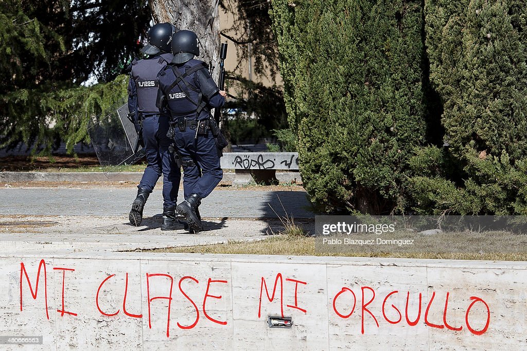 University Students Strike In Madrid : News Photo