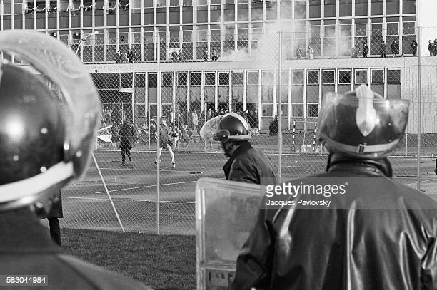Riots at Nanterre University Between Students and CRS Riot Police