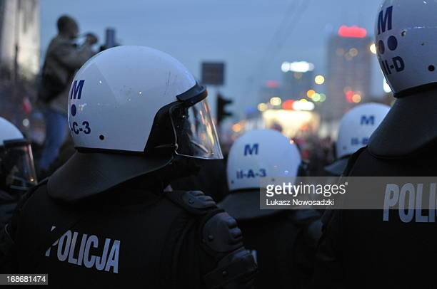Riots during Independence Day in Warsaw, Poland 2012