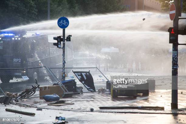 Riots in St Pauli district during G 20 summit in Hamburg on July 8 2017 Authorities are braced for largescale and disruptive protests as Leaders of...