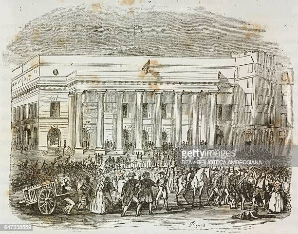 Riots in the days leading up to the uprising of the 13 Vendemiaire Year 4, Paris, 5 October 1795 illustration from the first Italian edition of The...