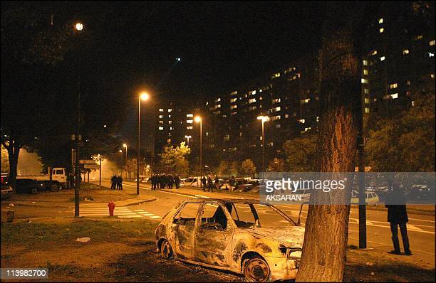 Riots in the Le Mirail district of Toulouse France On November 06 2005