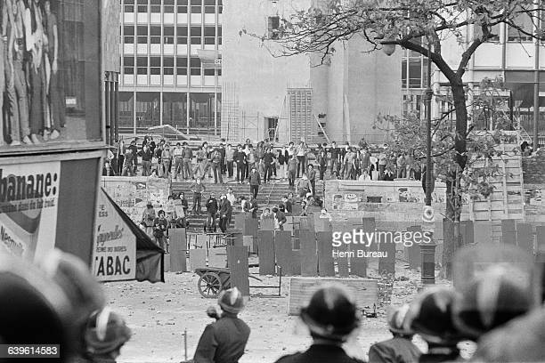 Riots in the Quartier Latin during the May '68 protests in Paris Here riots at Jussieu University
