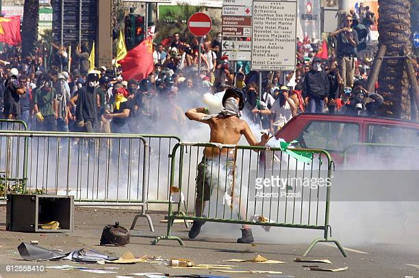 Riots on the second day of the G8 Summit in Genoa:violent clashes broke out between the anti-globalization demonstrators and the Italian police.