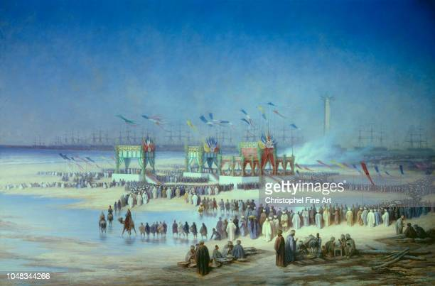 Riou Edouard Inauguration Ceremony of the Suez Canal in Port Said November 17, 1869 National Museum Of Compiegne Castle.