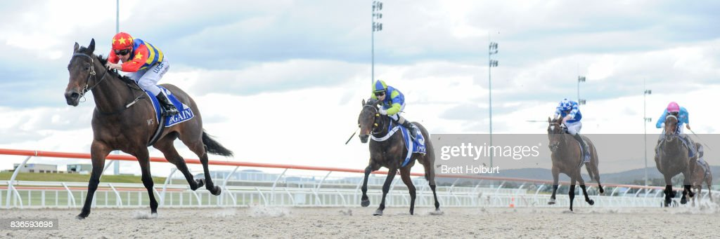 Rip Girl (NZ) ridden by Chris Symons wins the Wise Choice F&M Maiden Plate at Racing.com Park Synthetic Racecourse on August 22, 2017 in Pakenham, Australia.