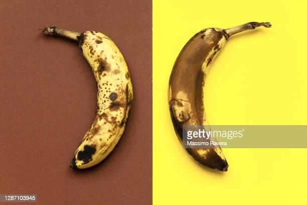 ripe bananas - brown stock-fotos und bilder