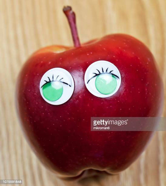 Ripe, fresh fruits, organic red apple