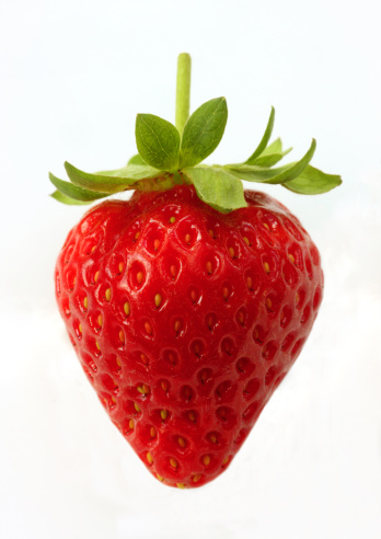 Ripe, organic strawberry on white background. - gettyimageskorea