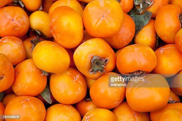 熟した persimmons