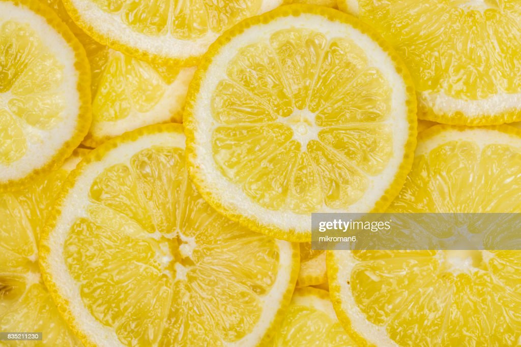 Ripe, sliced, fresh fruits, organic lemon fruit : ストックフォト