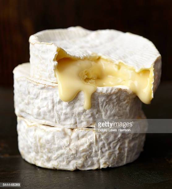 ripe soft cheese - cheese stock pictures, royalty-free photos & images