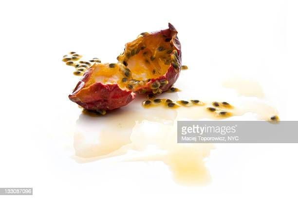 Ripped open passion fruit