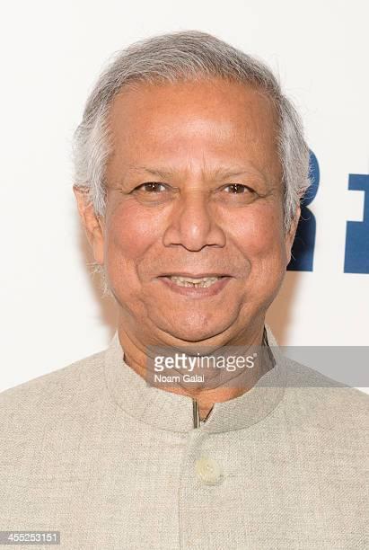 Ripple of Hope Award social justice honoree Muhammad Yunus attends 2013 Ripple of Hope Awards Dinner at New York Hilton on December 11 2013 in New...