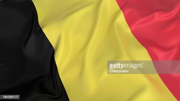 ondulé drapeau de belgique - drapeau belge photos et images de collection