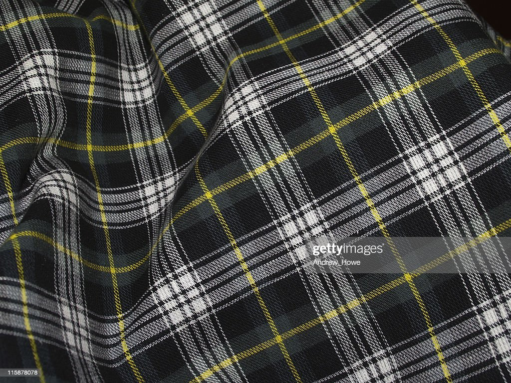 Rippled Green Tartan : Stock Photo