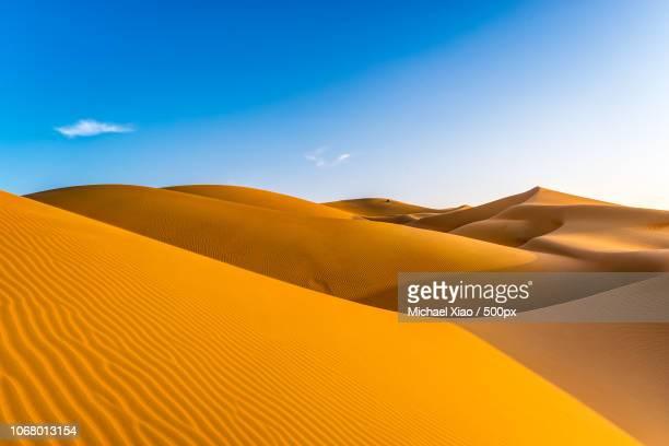rippled sand dunes - duna de arena fotografías e imágenes de stock