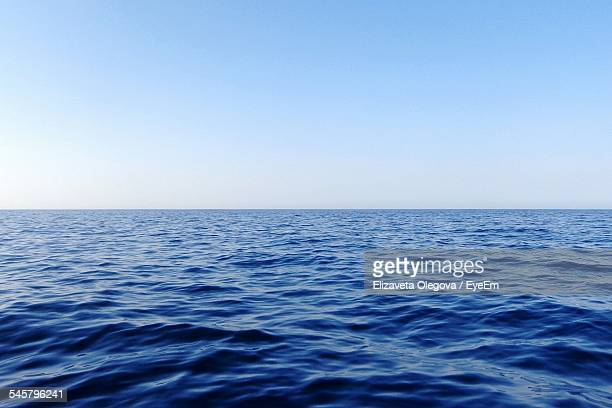 Rippled Sea Against Clear Sky