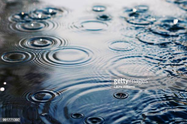 ripples - raindrop stock pictures, royalty-free photos & images