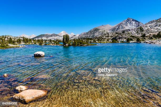 rippling waters of marie lake, john muir wilderness - pacific crest trail stock pictures, royalty-free photos & images
