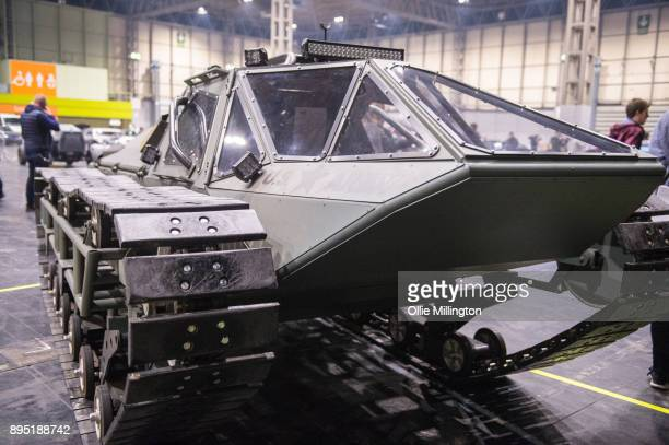 Ripsaw EV2 Luxury Super Tank used in The Fate of the Furious seen during the 'Fast Furious Live' technical rehearsal at NEC Arena on December 18 2017...