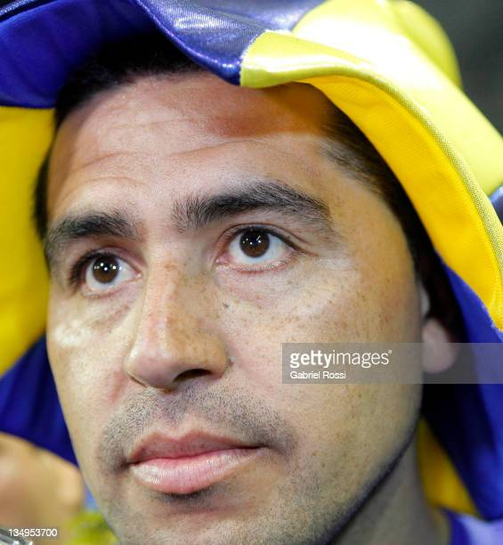Riquelme of Boca Juniors during a match between Boca Juniors and Banfield as part of the championship IVECO Bicentenario Apertura 2011 at the...
