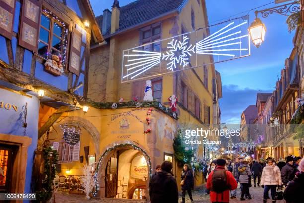Riquewihr at Christmas - Rue du Général de Gaulle (Alsace, France)