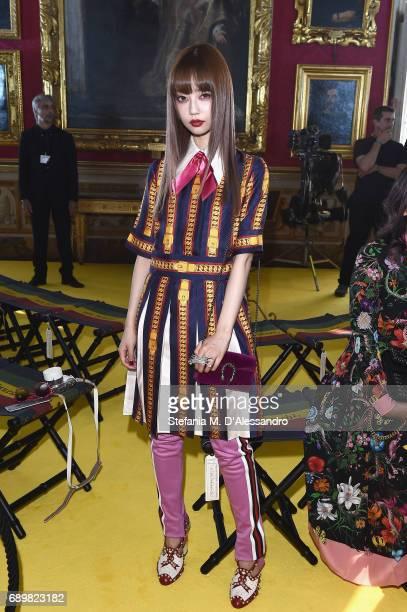 080dc7699b4 Risa Nakamura attends the Gucci Cruise 2018 fashion show at Palazzo Pitti  on May 29 2017