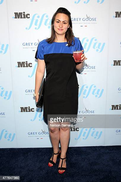 Risa Ward attends GREY GOOSE Vodka Hosts The Inaugural Mic50 Awards at Marquee on June 18 2015 in New York City
