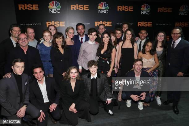 RISE 'Rise Premiere' Pictured Casey Johnson Flody Suarez Jeffrey Seller Caroline Pluta Nacho Tambunting Shannon Purser Rosie Perez Katherine Reis...