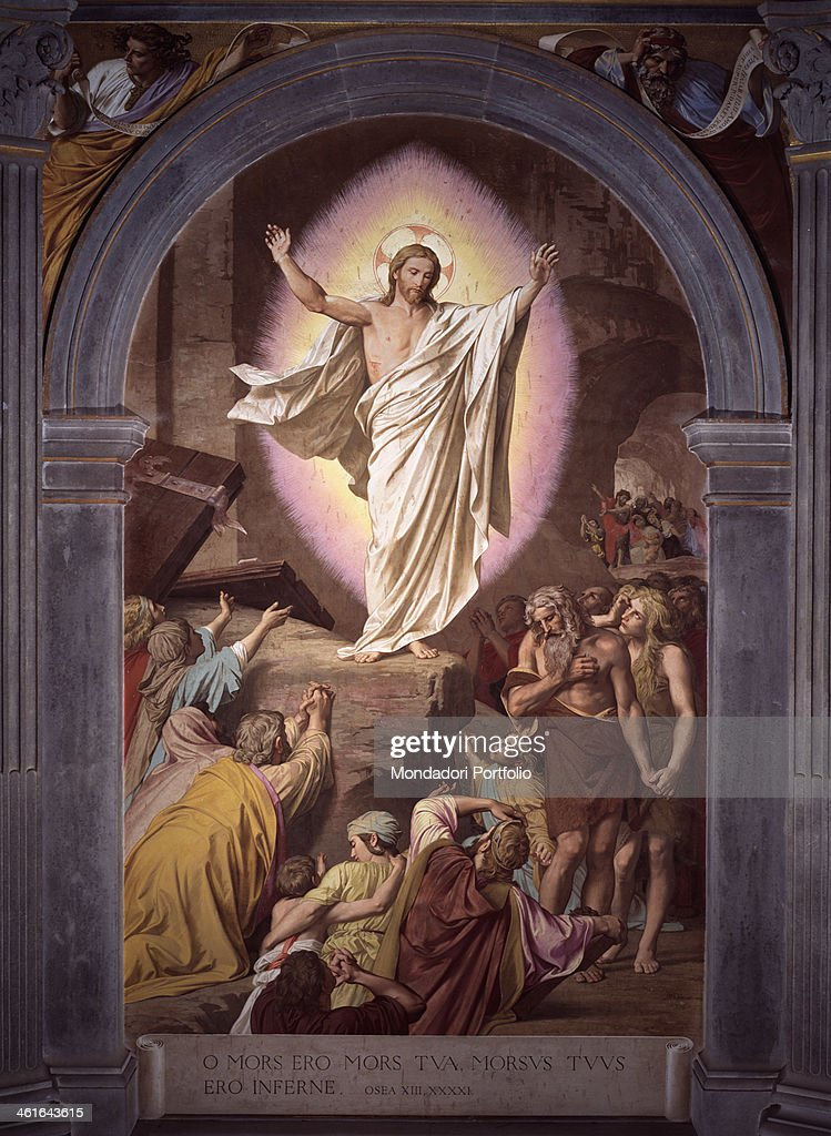 Risen Christ Appears to His Faithful, by Alessandro Franchi, 1880 - 1899, 19th Century, fresco : News Photo