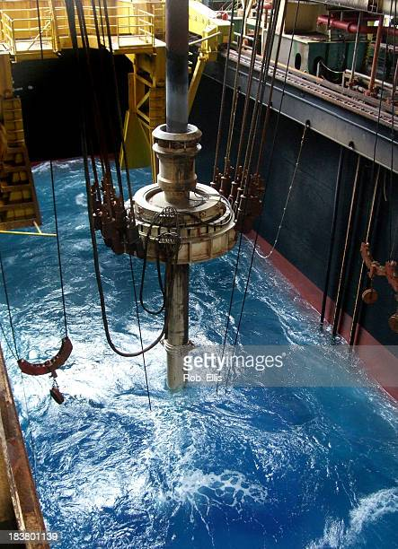 Riser and slip joint on drillship