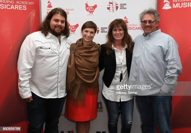 Riser House Group Recording Artist Dillon Carmichael Stephanie Hudachek Nancy Lee Dewayne attend MusiCares Country Music Night at Aj's Good Time Bar...