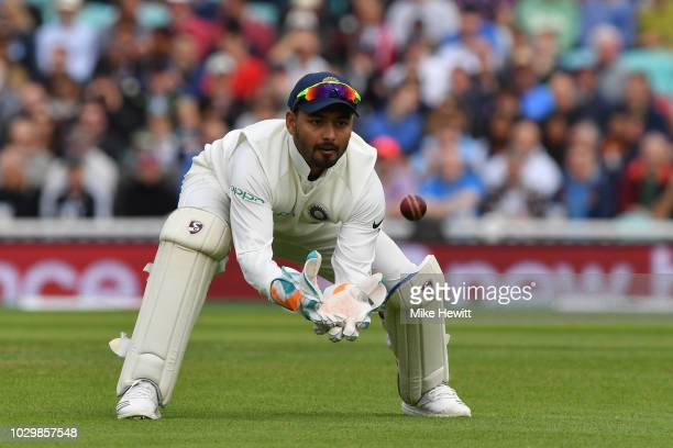 Rishabh Pant of India in action during the Specsavers 5th Test Day Two between England and India at The Kia Oval on September 8 2018 in London England