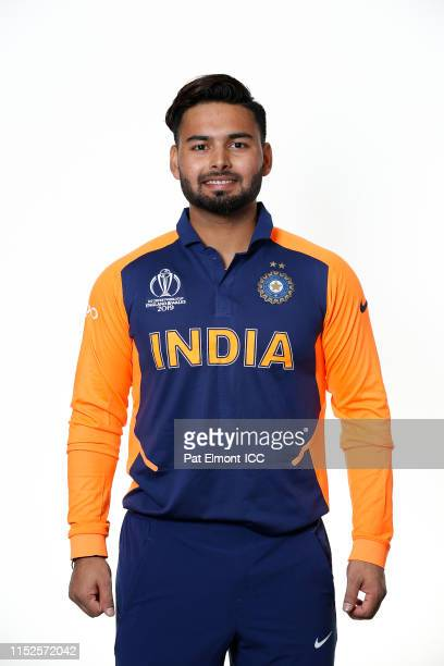 Rishabh Pant of India poses for a portrait during the ICC Cricket World Cup 2019 at the Hyatt Regency Birmingham on June 28, 2019 in Birmingham,...