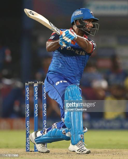 Rishabh Pant of the Delhi Capitals bats during the Indian Premier League IPL Eliminator Final match between the Delhi Capitals and the Sunrisers...