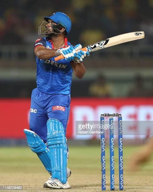 Rishabh Pant of the Delhi Capitals bats during the Indian Premier League IPL Qualifier Final match between the Delhi Capitals and the Chennai Super...