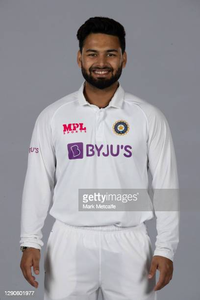 Rishabh Pant poses during the India Test squad headshots session at the Intercontinental on December 10, 2020 in Sydney, Australia.