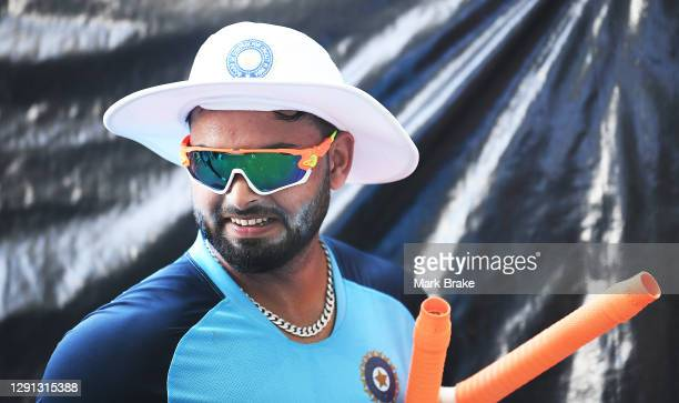 Rishabh Pant wicket keeper of India during an Indian Nets Session at Adelaide Oval on December 15, 2020 in Adelaide, Australia.