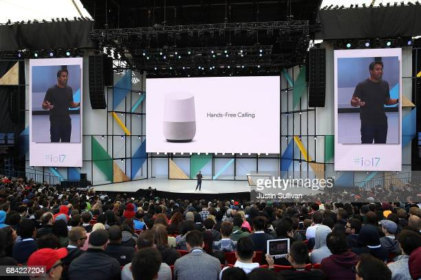 Rishi Chandra Google Vice President of Product Management and General Manager of Home Products speaks during the opening keynote address at the...