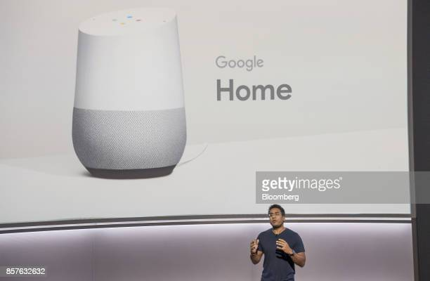 Rishi Chandra senior product manager of Google Inc speaks about the Google Home voice speaker during a product launch event in San Francisco...