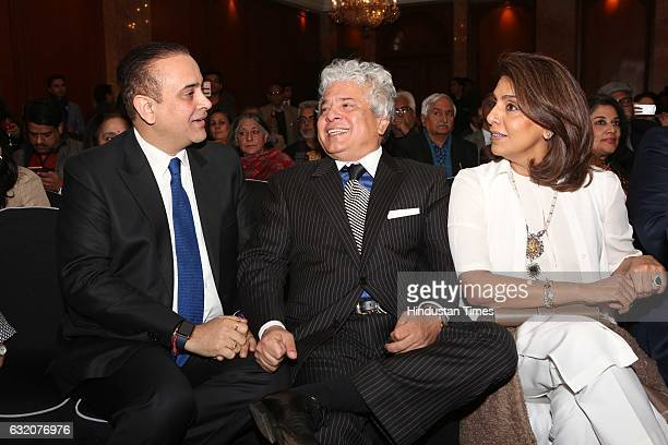 Rishi Kapoor's wife actor Neetu Kapoor with Nikhil Nanda and Suhel Seth during the launch of autobiography of Bollywood actor Rishi Kapoor titled...